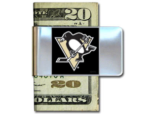 Pittsburgh Penguins Pewter Money Clip
