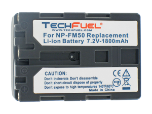 Sony DCR-TRV19 Camcorder Battery, New TechFuel NP-FM50 Battery