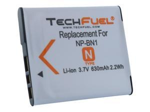 NP-BN, NP-BN1 TechFuel Battery for Sony Cameras, 630mAh/3.7Wh
