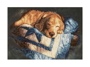 "Snooze Stamped Cross Stitch Kit-14""X10"""