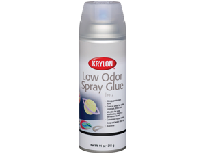 Krylon KO7012 Low Odor Glue Spray Adhesive - 11 Ounces