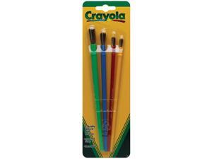 Crayola Llc Formerly Binney & Smith BIN053515 Art & Craft Brush Set 4Ct Blister