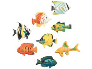 Darice 248515 Creatures Inc.-Tropical Fish 14-Pkg