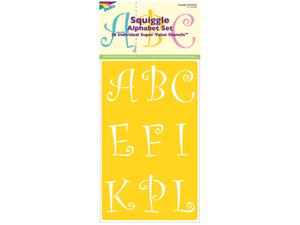 "Stencil Mania Stencils 7""X20"" 2/Pkg-Squiggle Alphabet 2-1/2"""