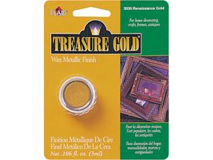 Treasure Gold Metallic Wax Finish 1/4 Ounce-Renaissance