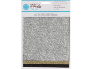 Martha Stewart Glitter Sheets 6/Pkg-Mineral-Silver, Gold & Black