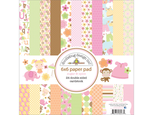 """Sugar & Spice Paper Pad 6""""X6""""-24 Double-Sided Cardstock Sheets"""