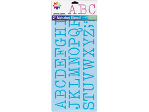 """Stencil Magic Decorative Stencils-2"""" Typewriter (Uppercase) 8-1/4""""X18"""""""