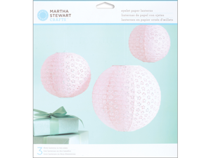 Vintage Girl Paper Lanterns Kit - Makes 3-Pink Eyelet