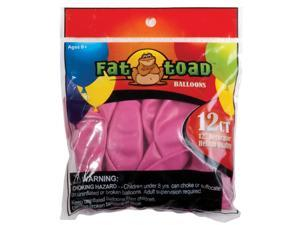 "Fat Toad Latex Balloons 12"" 12/Pkg-Fuchsia Pink"