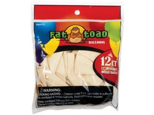 "Fat Toad Latex Balloons 12"" 12/Pkg-Ivory"