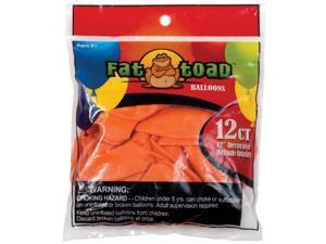 "Fat Toad Latex Balloons 12"" 12/Pkg-Sunburst Orange"