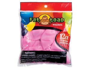 "Fat Toad Latex Balloons 12"" 12/Pkg-Pink Stars"