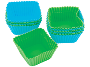 Silicone Baking Cups-Square 12/Pkg