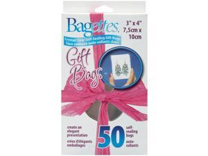 "Bagettes Self-Sealing Gift Bags 3""X4"" 50/Pkg-Clear"