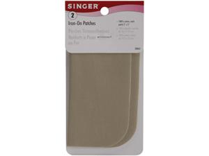 """Iron-On Patches 5x5"""" 2/Pkg-Khaki"""