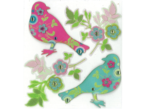Jolee's Boutique Parcel Dimensional Stickers-Printed Birds