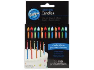 "Color Flame Candles 2"" 12/Pkg-Vivid Colors"