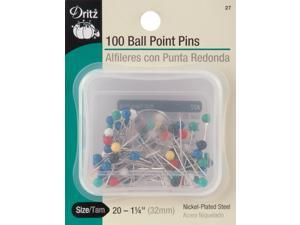 Color Ball Point Pins-Size 20 100/Pkg