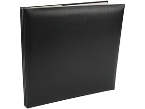 "Leatherette Postbound Album 12""X12""-Black"