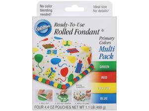 Ready-To-Use Rolled Fondant 4.4 Ounces 4/Pkg-Primary