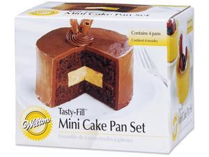"Tasty-Fill Mini Cake Pan Set-Round 4""X1.25"""