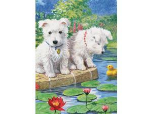 "Mini Colour Pencil By Number Kit 5""X7""-Westie Pup"