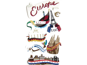 Jolee's Boutique Le Grande Dimensional Sticker-Europe