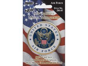 "Military Self Adhesive Metal Medallion 2""-Air Force"