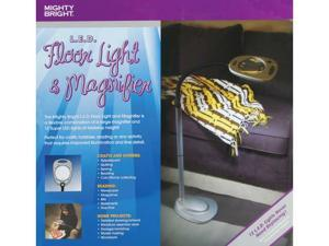 Mighty Bright LED Floor Light & Magnifier-Grey & Black
