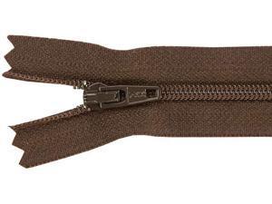 "Ziplon Coil Zipper 14""-Sable"