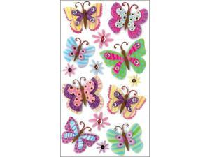 Jolee's Boutique Le Grande Dimensional Stickers-Paisley Butterfly Repeats