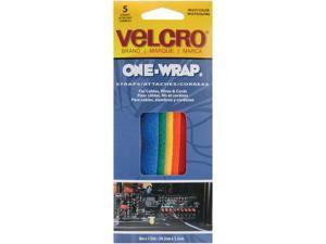 "VELCRO(R) brand One-Wrap Straps 8""X1/2"" 5/Pkg-Multi-Color"
