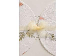 Invitation Kit 50/Pkg-Pressed Floral/Ivory