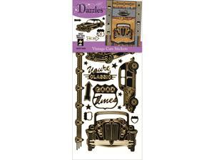 Dazzles Stickers            -Vintage Car Black