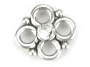 Blue Moon Silver Plated Metal Connectors-Flower 20/Pkg