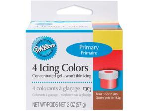Icing Colors 1/2 Ounce 4/Pkg-Primary