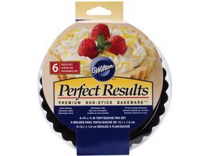"""Perfect Results Tart/Quiche Pans 4"""" 6/Pkg-Round"""
