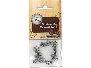 Vintage Collection Bottle Cap Charm Bracelet 1/Pkg-Antique Silver Curb