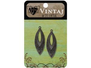 Vintaj Metal Accents 2/Pkg-Etruscan Navette