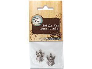 Vintage Collection Bottle Cap Charms 2/Pkg-Angel