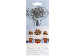 """Wire Card Holders 6"""" 6/Pkg-Silver"""