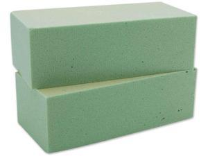 "Dry Foam Block 2-5/8""X3-1/2""X7-7/8"" 2/Pkg-Green"