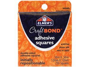 """Elmer's Adhesive Squares .50""""X.50"""" 250/Pkg-Initially Repositionable"""