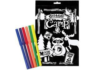 "Color-In Velvet Poster 6""X9""-Camp Critter"