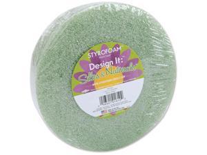 "Styrofoam Disc 5-7/8""X1-3/16"" 1/Pkg-Green"