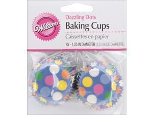 Mini Baking Cups-Dazzling Dots 75/Pkg