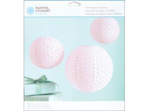 Vintage Girl Paper Lanterns Kit - Makes 3-Pink Eyelet