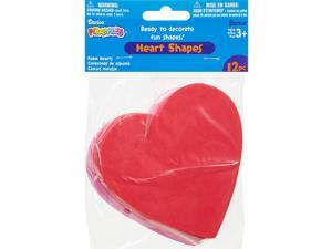 Foam Shapes 12/Pkg-Hearts