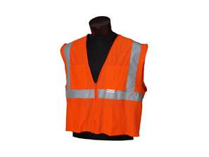 Jackson Safety 3022281 Vest Cl2 Mesh Orange/ Silver Deluxe M/Large Reflective Cl
